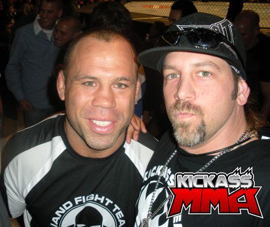 UFC 87 - Me and Wanderlei Silva. UFC 87 - Brock Lesnar
