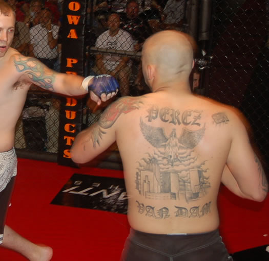 MCC 14 MMA Tattoos - Tony Hoadley and Chris Perez