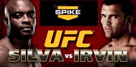 UFC Silva vs Irvin free on Spike TV!