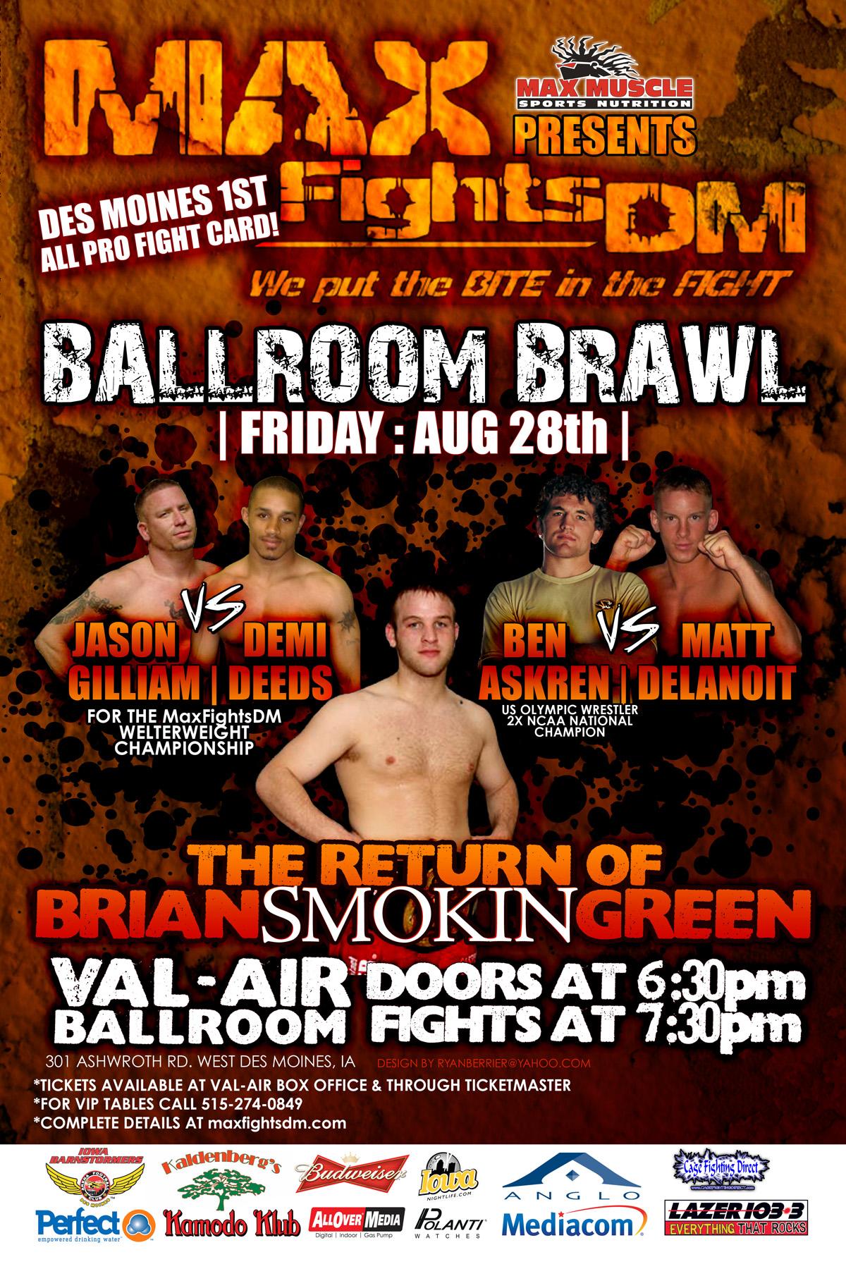 Max Fights DM Ballroom Brawl - Promo